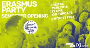 ★ Erasmus Party | Semester Opening ★