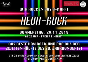 Neon Rock - BuPhy Party WiSe 2018/19