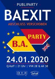 Baexit - Abschluss verschoben