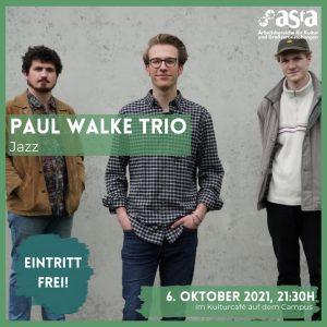 Jazz am Mittwoch: PAUL WALKE TRIO