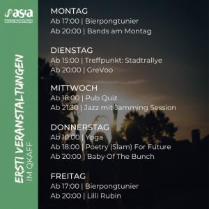 Ersti-Woche - WiSe 2021/22